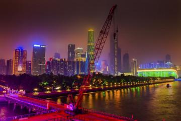 Zhujiang New Town Pearl River Guangzhou Guangdong China