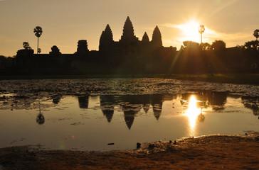 Sunrise at Angkor Wat, Siem Reap, Cambodia