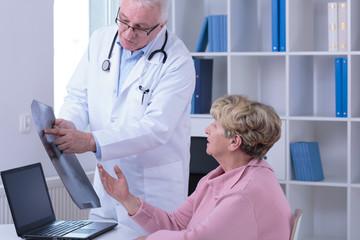 Senior woman during medical visit