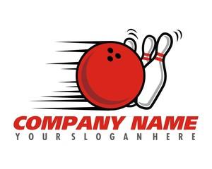 angry bowling logo image vector