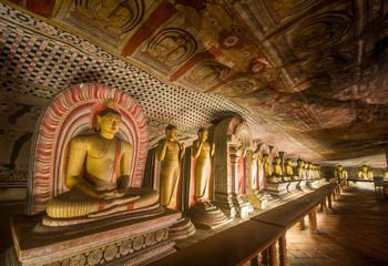 Keuken foto achterwand Theater Buddha statues in Dambulla Cave Temple, Srilanka