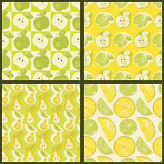 Seamless patterns with fruit