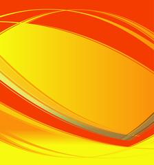 Wave orange vector on white background