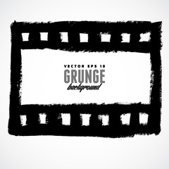 Vector illustration of a grunge filmstrip frame.