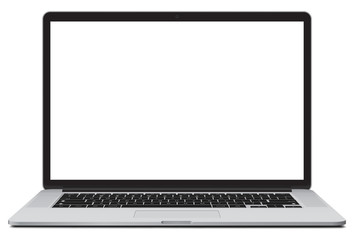 Vector illustration of laptop isolated on white background