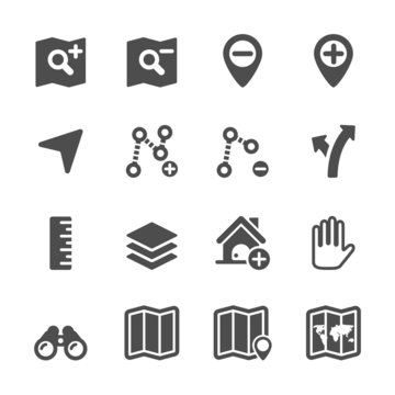 map editing icon set, vector eps10
