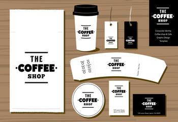Coffee shop Cafe Coperate Identity Design Template