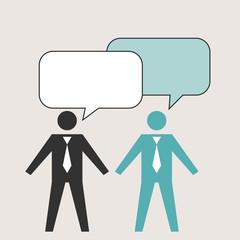 vector illustration of business communication