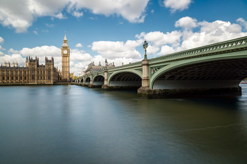 Big Ben, the Thames and Westminster Bridge