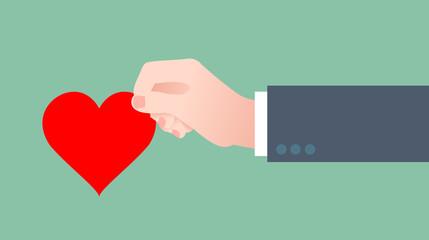 mano, cuore, amore, innamorato