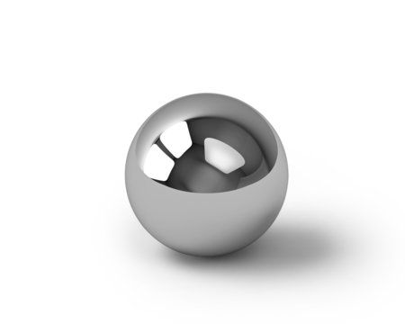 Glossy metal sphere with clipping path