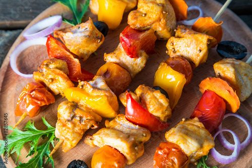 Куриные шашлыки на шпажках в духовке  рецепт с фото