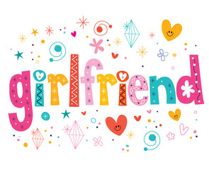 girlfriend decorative lettering type design