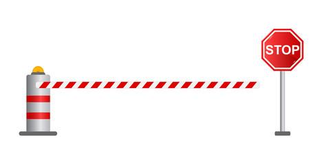 Stop road barrier, vector