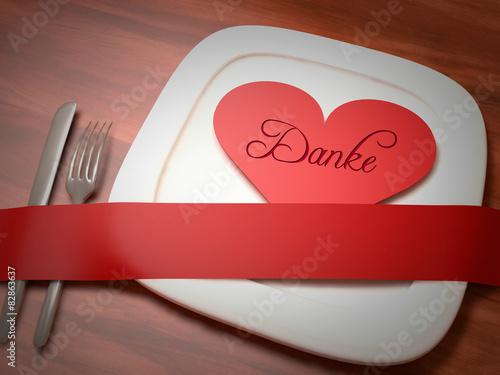 """danke essen menue gutschein einladung karte"""" stockfotos und, Einladung"""