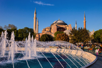 Fountain in front of the mosque, Istanbul, Turkey