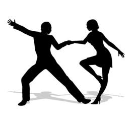 silhouette di ballerini di liscio