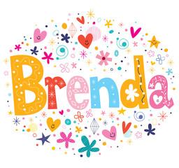 Brenda name design