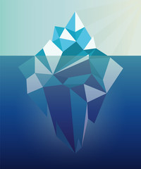 iceberg graphic illustration