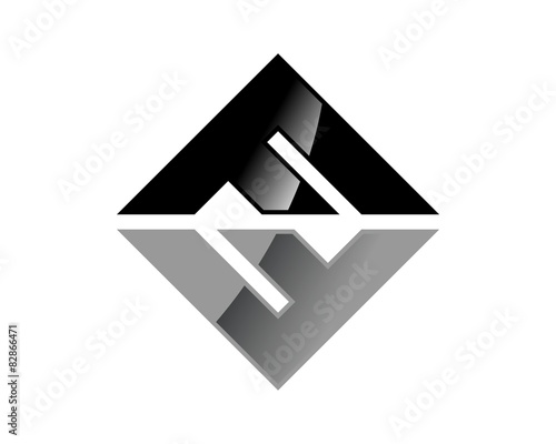 quotf letter logo diamond shapequot stock image and royaltyfree