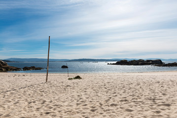 Lonely beach in the Rias Baixas, Galicia