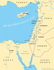 Eastern Mediterranean Political Map