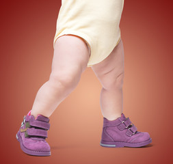 the stylish baby goes in boots