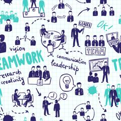 Teamwork Seamless Pattern