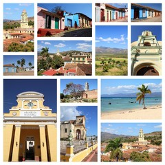 Trinidad, Cuba - travel collage