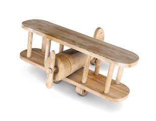3d wooden plane