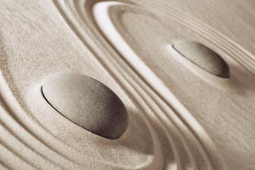 Photo sur Plexiglas Zen pierres a sable zen meditation stones