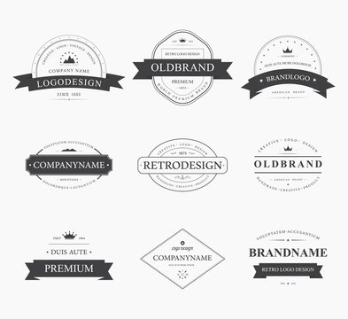 Brand and logo design, old tavern badge