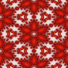 Popular fractal ornaments in white background.