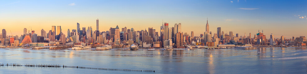 Aluminium Prints New York New York City skyline