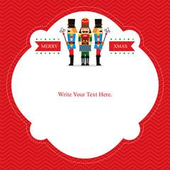 Christmas Card with Nut Cracker