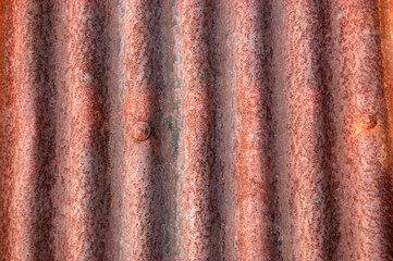 Corrugated roof or wall background
