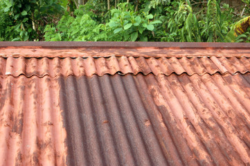 Metal corrugated roof photo