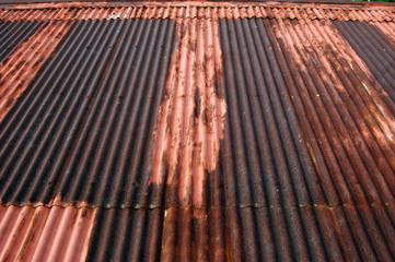 Rusty corrugated roof photo