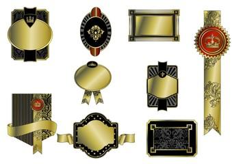 Dekor- Wappen und Abzeichen