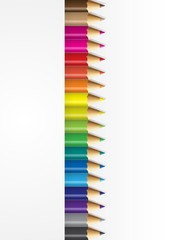 Collections of pencils colour with white backround