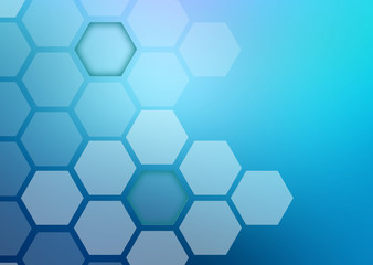 Abstract colorful background of hexagonal shapes different sizes