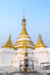 Wat Jong Klang delicate with Burmese and Thai fusion art in even