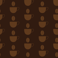 Background with coffee cups