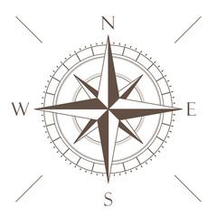 Kompass Symbol Braun