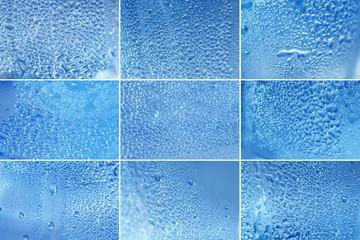 a drop of water close-up set of textures