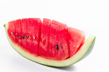 piece of fresh watermelon isolated on white background