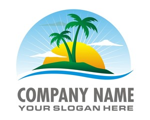 sunrise island logo image vector