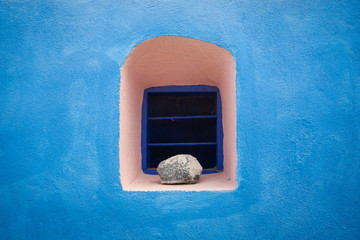 Details of houses on Santorini island, Greece