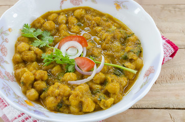 chole  or chikpeas cooked with different spices