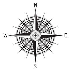 Detailed Compass Windrose
